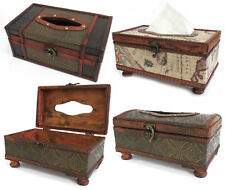 G16 Retro Antique Replica Hand Crafted Wooden Tissue Gift Box