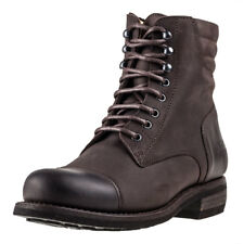 Rokker Urban Racer Mens Brown Leather Casual Boots Lace-up Genuine Shoes