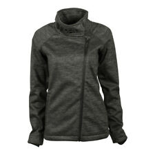 BENCH Damen Strickjacke Bonded Funnel Sweatjacke FLEECE Innenfutter schwarz