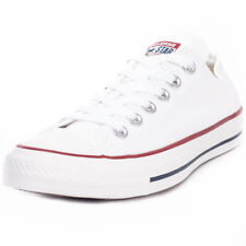 Converse Chuck Taylor Allstar Ox Womens White Canvas Casual Trainers Lace-up