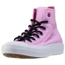 Converse Ctas Ii Hi Shield Womens Pink Canvas Casual Trainers Lace-up New Style