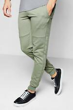 Boohoo Skinny Fit Jogger With Sports Zip para Hombre