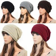 NEW Unisex Womens Mens Knit Baggy Beanie Beret Hat Winter Warm Oversized Ski Cap