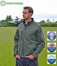 Fortress Sedgemoor Mens Fleece Lined SOFTSHELL Waterproof JACKET Windproof WARM