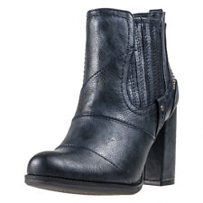 Mustang Heeled Ankle Boot Mujeres Botines Navy nuevo Zapatos