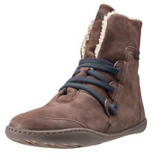 Camper Peu Cami Hi Womens Brown Leather Casual Boots Lace-up Genuine Shoes
