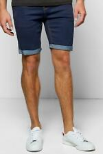 Boohoo Skinny Fit Denim Shorts With Turn Up para Hombre