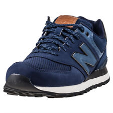 New Balance Ml574 Running Mens Blue Synthetic Casual Trainers Lace-up New Style