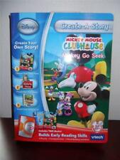 VTECH CREATE A STORY DISNEY MICKEY MOUSE CLUBHOUSE 5+ YRS 2 BOOKS READING SKILLS