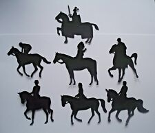 9 HORSES & RIDERS  CARD MAKING SILHOUETTE DIE CUTS NEW