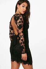 Boohoo Libby Lace Open Back Detail Bodycon Dress per Donna