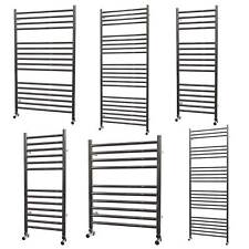 304 Stainless Steel Heated Towel Rail Bathroom Radiator Straight Ladder Polished