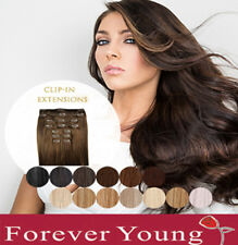 100% Real Human Hair Thick Deluxe Clip in Hair Extensions UK Hair Forever Young