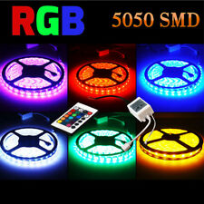 5m RGB 5050 NO Impermeable Tira de luces led SMD 44 Llave a distancia 12v