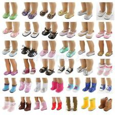 Dolls Shoes for 18'' American Girl Doll Sneakers Sandals Boots Clothes Dress Lot