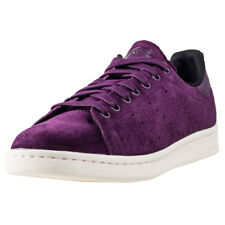 adidas Stan Smith Mens Violet Suede Casual Trainers Lace-up Genuine Shoes