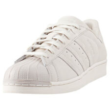 adidas Superstar Mens Beige Suede Casual Trainers Lace-up Genuine Shoes