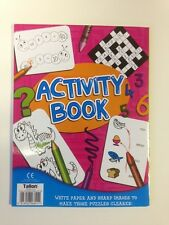 Activity Book Kids Child Fun Art & Craft Make The Puzzles Clearer White Paper