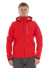 CMP Giacca Softshell Giacca Outdoor Giacca tecnica ROSSO IMPERMEABILE ZIP