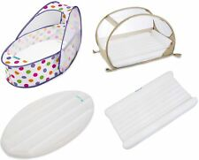 Koo-di INFLATABLE MATTRESS SET FOR TRAVEL BASSINETTE/COT + Sheet + Footpump BN