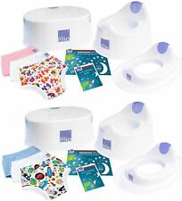 Bambino Mio POTTY TRAINING BUNDLE Toilet Training Child Step Stool Nappy 2-3 BN