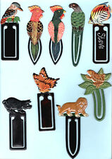 BOOK MARK Kingfisher Parrot Bird Lion Tropical Fish Frog Toad Pork Pig Butterfly