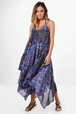 Boohoo Petite Nadia Bright Printed Beach Maxi Dress para Mujer