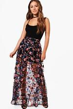 Boohoo Petite Felicity Embroidered Full Maxi Skirt para Mujer
