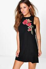 Boohoo Petite Aria Embroidered Shift Dress para Mujer