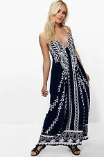 Boohoo Petite Ruby Mono Coin Back Maxi Dress para Mujer