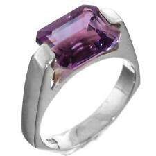 Natural Amethyst 925 Sterling Silver Band Ring