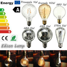 E27 1/4/5/40W Vintage Antique Edison Filament COB LED Light Bulb Lamp 85-265V