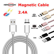 For iPhone 5 6 7 Type C Micro USB Smartphones 2.4A Magnetic Quick Charger Cable
