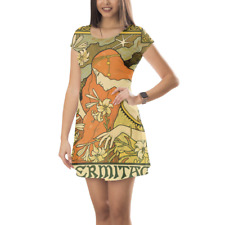 Art Deco Paris Short Sleeve Dress