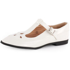 Dolcis Mary Janes T Bar Womens White Synthetic Casual Sandals Buckle New Style