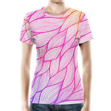 Japanese Leaves Ombre Women Sport Mesh T-Shirt XS - 3XL