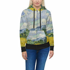 Vincent Van Gogh Fine Art Painting Women Zip Up Hoodie XS-3XL