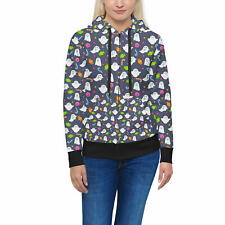 Ghosts with Candy Women Zip Up Hoodie XS-3XL