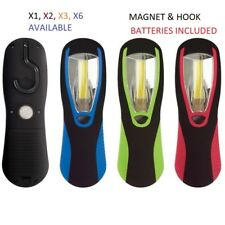 COB LED MAGNETIC WORKLIGHT TORCH, HOOK, BATTERIES INCLUDED, POWERFUL 200 LUMENS