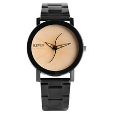 KEVIN Stainless Steel Strap Round Dial Men Women Business Quartz Wrist Watch