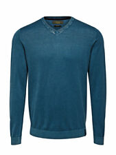 Jack and Jones Werner V-Neck Sauteur Bleu Teal Blue Homme