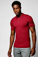 Boohoo Short Sleeve Muscle Fit Polo para Hombre