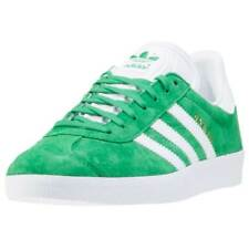 adidas Gazelle Unisex Green Suede & Synthetic Casual Trainers Lace-up New Style
