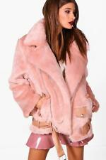 Boohoo Lottie Boutique Oversized Faux Fur Aviator para Mujer