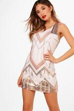 Boohoo Boutique DeDe Sequin Panelled Shift Dress para Mujer