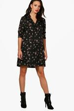 Boohoo Tall Emily Floral Oversized Shirt Dress para Mujer
