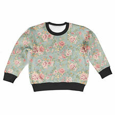 Pastel Floral Wallpaper Kids Sweatshirt Unisex All-Over-Print