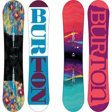 BURTON FEELGOOD Camber snowboard da donna All Mountain Freestyle 2016-2018 NUOVO