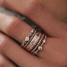 5pcs Set Urban Geometry Mid Midi Above Stack Knuckle Finger Rings C1MY