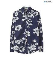 Joules Women's Lucie Classic Printed Shirt - French Navy Posy X_LUCIE